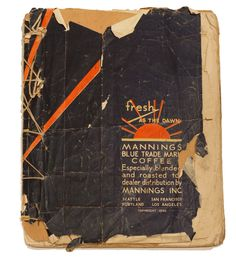 James Castle's Book UNTITLED (Mannings coffee book), post-1932 75 hand-drawn pages 11.5 x 8.75 inches Drawn in soot and spit on found paper bound by the artist with found string Profoundly deaf and...