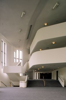 Foyer, Essen opera and music theatre, Alvar Aalto, Essen, Germany