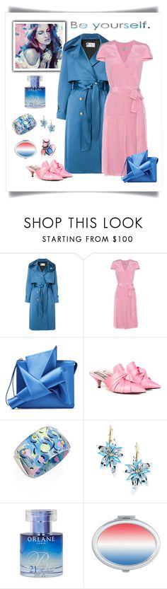 """""""Lanvin Satin Trench Coat Look"""" by romaboots-1 ❤ liked on Polyvore featuring Lanvin, Burberry, N°21, Alexis Bittar and Orlane"""