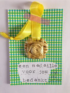 ©Lise: Een medaille voor jou- cadeautje voor op het einde van het schooljaar