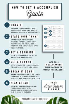Your Best Season Planner Printable Planner Quarterly Etsy Planner Pdf, Goals Planner, Printable Planner, Printables, Goals Printable, Self Development, Personal Development, Week Planer, Goal Setting Worksheet