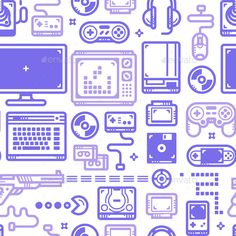 Gaming Pattern Vector EPS. Download here…