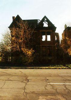 Abandoned in Brush Park, Detroit, MI.