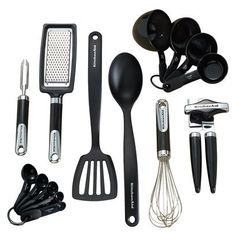 KitchenAid Black 15pc Kitchen Tool & Gadget Set