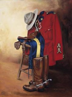 mountie By Pat Deputat I Am Canadian, Canadian History, Meanwhile In Canada, Sirens, Canadian Soldiers, Military Art, Military Uniforms, Naval, Canada Eh