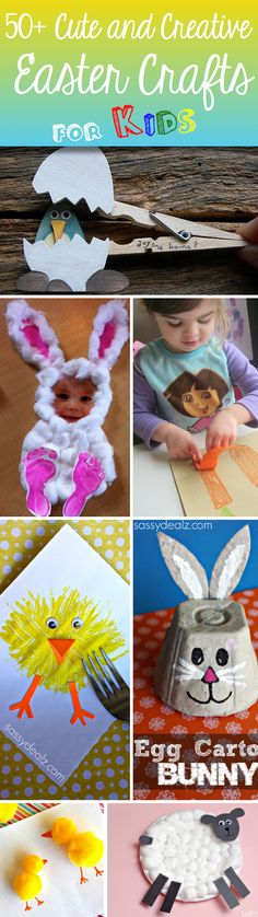 Super easy and kid-friendly art projects for Easter! Cute and Creative Easter Crafts For Kids Cute Diy Projects, Easter Projects, Easter Crafts For Kids, Toddler Crafts, Children Crafts, Easter Stuff, Easter Ideas, Art Projects, Spring Crafts