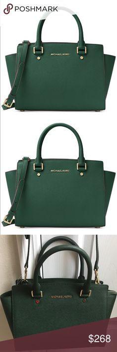 Michael Kors Medium Selma Brand new with tag. Saffiano leather. Dust bag included. Color name: Moss. No trades  Michael Kors Bags Satchels