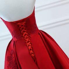 0d31be1d6f90 2018 abiti da ballo lunghi abiti da sera rossi abito tulle floreale donne abito  formale abito sposa alla moda abito corsetto indietro KS-15