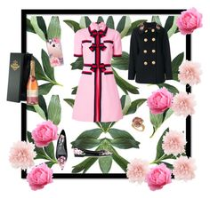 """""""Flowers and pink"""" by malinandersson on Polyvore featuring Gucci, Dolce&Gabbana, Ann Demeulemeester and Casetify"""