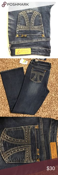 NWT Seven7 Jeans Bling pocket jeans Seven7 Jeans Boot Cut