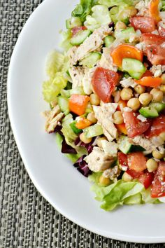 Greek Chopped Salad and a  KitchenIQ knife sharpener #giveaway