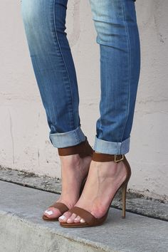 brown leather steve madden sandal pumps...love...jt. Maybe quite a number years ago I could wear them, but still love the look...jt