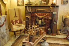 Primitive Living Room by A Storybook Life, via Flickr...