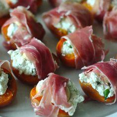 basil goat cheese marcona almond stuffed apricots wrapped in proscuitto recipe pintxos san sebastian