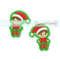 Embroidery Designs - Christmas Elf Felt Clippies 4x4 SVG - Welcome to Lynnie Pinnie.com! Instant download and free applique machine embroidery designs in PES, HUS, JEF, DST, EXP, VIP, XXX AND ART formats.
