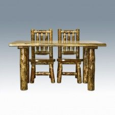 Glacier Country Child's Log Table
