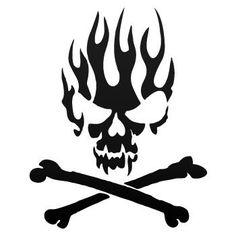 tweet   Skull  Wall Stencil by seeyou276 on Etsy, $3.99