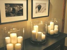 DIY Schlafzimmer Deko-Ideen zum Valentinstag: Kerzen in großen Kerzengläsern Best Picture For DIY Candles bath and body works For Your Taste You are looking for something, and it is going to tell you Large Candle Holders, Large Candles, Diy Candles, Diy Bedroom Decor, Diy Home Decor, Bedroom Ideas, Candle Store, Romantic Candles, Deco Originale