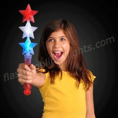 Treat the kiddos on 4th of July night! Red White and Blue LED Triple Star Wands are perfect. A safe alternative, in place of old fire sparklers. Lights are the best.