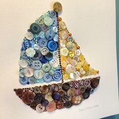 Boat Buttons - button boat - button art - buttons