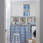 Blue & White Stripes in Fresh Laundry Room