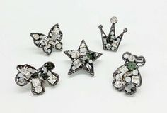 Charms Fashion Pony Star Butterfly Crown Bear Rhinestone Accessories Hair DIY Charm Bracelet Necklace Hair Accessories  This is a fantastic charm - a real hit of the season!  This is a great find for handy people.  Enjoy the creativity!  You will receive 2 pcs/ 5pcs/ MIX 5 pcs  Material: alloy painted, rhinestone  Style:...