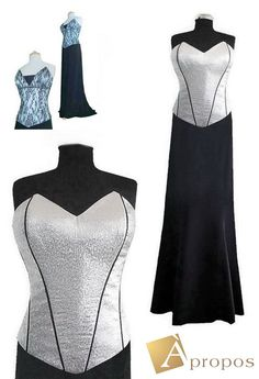 Abendkleid 2- Teiler Corsage Rock Taft Elegant Luxeriös Extravagant Übergrösse