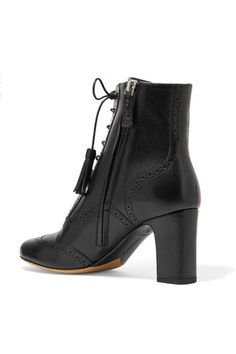 Tabitha Simmons - Afton Leather Ankle Boots - Black - IT
