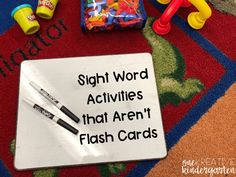 Are you stuck teaching sight words in the same way, using flash cards? Check out these engaging sight word activities that aren't sight words! Beginning Of Kindergarten, Kindergarten Language Arts, Kindergarten Literacy, Literacy Centers, Preschool Sight Words, Teaching Sight Words, Teaching Time, Sight Word Flashcards, Sight Word Games