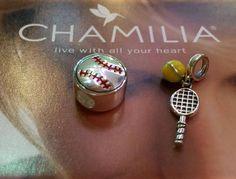 New Chamilia Sports Charms at Yelton Fine Jewelers. Magic Charms, Swarovski Crystals, Gemstone Rings, Charmed, Jewels, Gemstones, Sports, Gold, Hs Sports