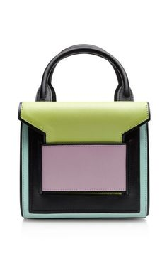 Shop Color-Block Leather Satchel by Pierre Hardy Now Available on Moda Operandi