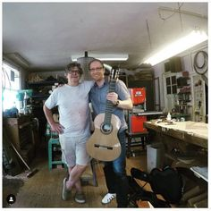 This is Arne Willems, a classical guitarist from Wuppertal, Germany. The picture was taken back in 2017 when he visited my workshop to collect his guitar. Every now and then, Arne drops by for lunch, combining his holidays at the Dutch coast with a social visit. Last month he sent me two YouTube videos in which he premieres the work of his friend, composer Marius Bajog. I herewith forward them. Arne plays a cedar top concert model. Take Back, Plays, Dutch, Workshop, Coast, Germany, Guitar, Holidays, Concert