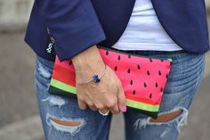 Sweet pinks. Fresh greens. Juicy reds. Tune up your summer outfit with the FRUTTI zip pocket collection. With @elisazanetti