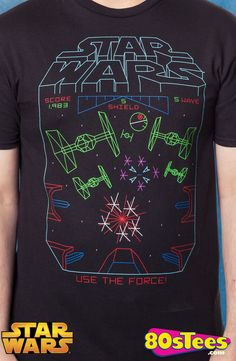 Star Wars Use The Force T-Shirt: Star Wars Mens T-Shirt With the popular video game from 1983, this shirt features the best art and illustration in men's fashions.