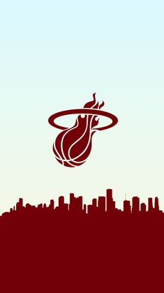 Basketball Wallpaper in a Skyline, it's a free Miami Heat phone wallpaper. Miami Heat Basketball, Nba Basketball Teams, Team Wallpaper, Blake Griffin, Wall Papers, Kobe, Basketball, Mobile Wallpaper, Hs Sports