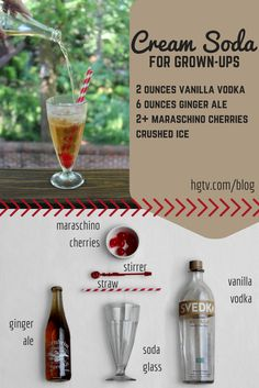 For #HGTVHappyHour we're sharing this nostalgic grown-up take on a classic cream soda >> http://blog.hgtv.com/design/2015/06/28/hgtv-happy-hour-grown-up-cream-soda-cocktail/?soc=pinterest