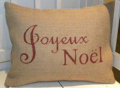 Joyeux Noel pillow cover, 26 Dollars
