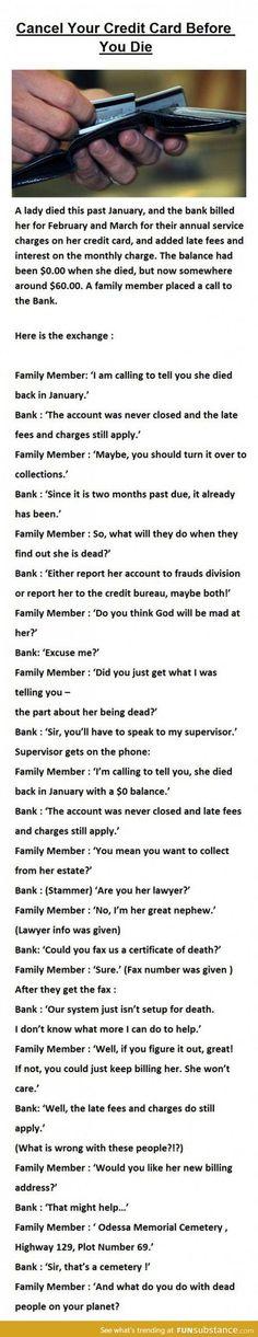 Billing the dead