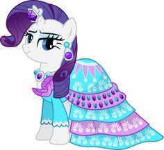 el vestido  con una capa celeste con decoraciones y gemas