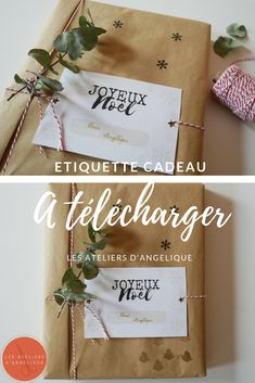 Emballage cadeau Noël Free Printable -Téléchargement gratuit Etiquette cadeau Christmas Wrapping, Wraps, Gift Wrapping, Gifts, Free, Unique Gifts, Cards, Gift Wrapping Paper, Presents