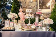 Very elegant #dessert bar. A great #Wedding idea.