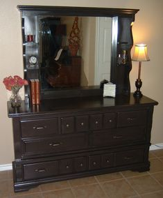 Redone dresser. Bedroom inspiration.