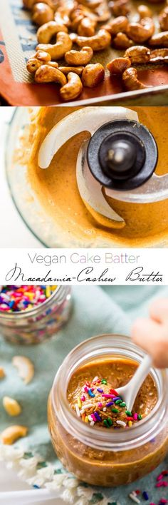 Vegan Cake Batter Macadamia Cashew Butter - This 6 ingredient vegan cake batter…