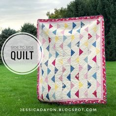Side to Side Quilt | Fabric: Bloom & Grow by Simple Simon & Co for Riley Blake Designs