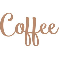 Silhouette Design Store - View Design #175408: coffee title - cream & sugar