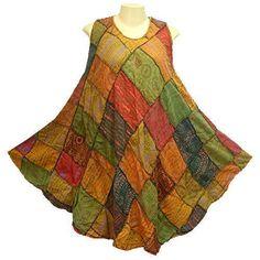 BOHO/HIPPY/GYPSY PATCHWORK SLEEVELESS DRESS - YM954 - On eBay