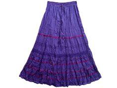 "Womens Boho Skirt Bohemian Purple Pink Lacework Bellydance Long Maxi Skirt 38"" Mogul Interior, http://www.amazon.com/gp/product/B008PO7ETS/ref=cm_sw_r_pi_alp_ehsmqb0Z5E3BW"