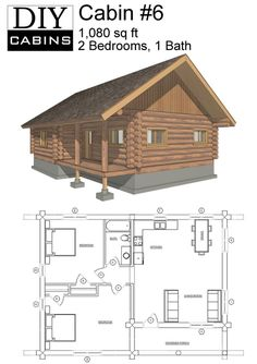 DIY Cabins - The Sapphire Cabin | House Plans - Small | Pinterest ...