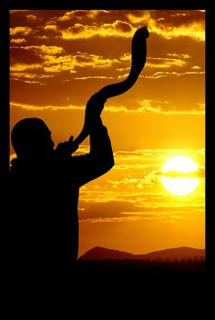 The Shofar which gathers the people to worship. The Shofar was also the battle cry. The watchman on the walls of Zion. God bless Israel and the Jewish people. May they all come to know Jesus Christ the Messiah Arte Judaica, Jesus Christus, Shabbat Shalom, Promised Land, Trumpets, Holy Land, Belle Photo, Sunrise, Places To Visit