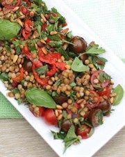Cherry Tomato, Roast Capsicum & Lentil Salad